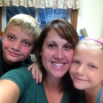 Stephanie Spann, Store Manager, with 2 of her 3 children.