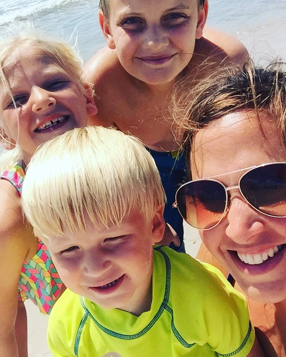 Stephanie Spann, Store Manager, with her 3 kids, Richard, Madison and Jacob