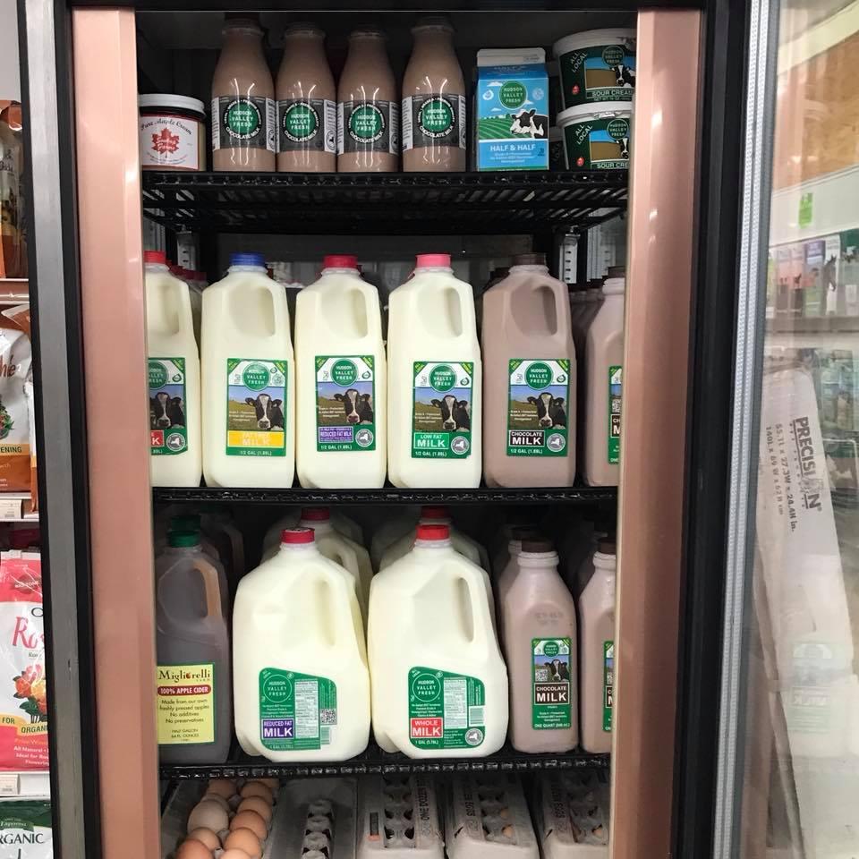 Hudson Valley Fresh milk sold here.